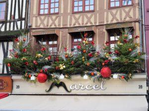 Weihnachtsdeko in Rouen